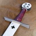 Meč templářský bezbarvý