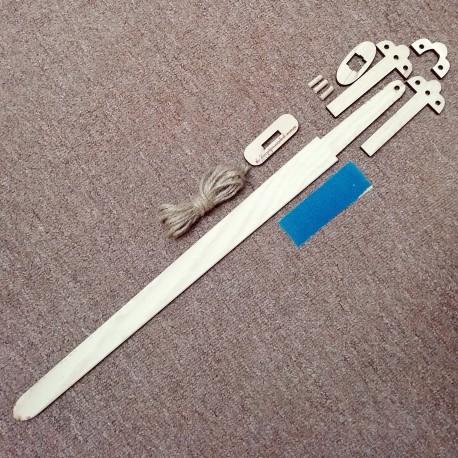 Normanský meč – stavebnice – složený normanský meč