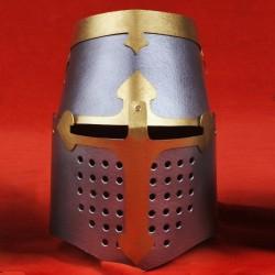 Hrncová helma v barvě kovu